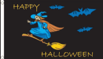 Happy Halloween Witch Large Flag - 5' x 3'.